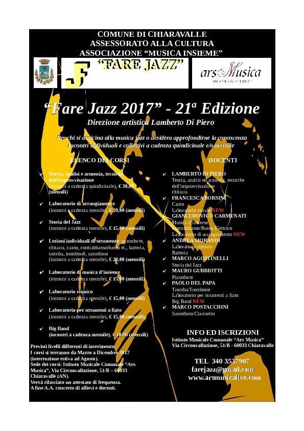 apertura iscrizioni Fare Jazz 2017